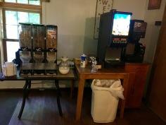 The Brookside Motel's breakfast room